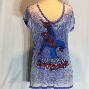 Marvel Spider-Man burnout Graphic t-Shirt Large